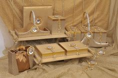 Some Elegant Gift packaging made done at Magnificence Studio under the guidance of Shalini Beriwal