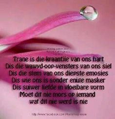 Trane is die kraantjie van ons hart. Afrikaans Quotes, Quotes And Notes, Bible Verses, Wisdom, Motivation, Sayings, House, Life, Beautiful