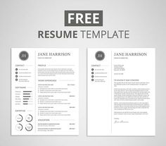 Free modern resume template that comes with matching cover letter template. If you like this cv template. Check others on my CV template board :) Thanks for sharing! Resume Cover Letter Template, Letter Templates Free, Teacher Resume Template, Modern Resume Template, Resume Template Free, Creative Resume Templates, Resume Cover Letters, Business Templates, Job Resume