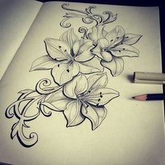 S lilly's flower tattoos, tattoos и lillies tattoo Tattoo Drawings, Body Art Tattoos, New Tattoos, Tatoos, Worst Tattoos, Girl Tattoos, Piercing Tattoo, Piercings, Geniale Tattoos