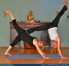 Yoga Poses Around The World With A Friend Is More