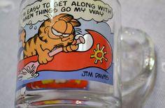 Vintage Garfield McDonalds Glass Coffee Mug 1978 Retro Panchosporch