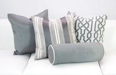 Newport Grey Pillow Collection Designer8*