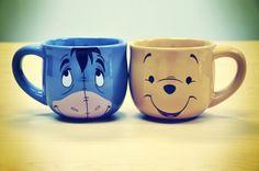 Cute Disney Coffee Mugs Picture by Infinitelyinfinite - Eeyore and Winnie the Pooh Disney Coffee Mugs, Disney Mugs, Cute Coffee Mugs, Cool Mugs, Tea Mugs, My Coffee, Coffee Cups, Morning Coffee, Bad Morning