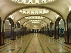 Majakovskaja Subway station, Moskow, Russia