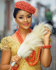 "9,539 Likes, 36 Comments - Africa's Top Wedding Website (@bellanaijaweddings) on Instagram: ""Igbo bride inspiration @_nedum Makeup: @renniesglam @photokultureweddings #BellaNaijaWeddings"""