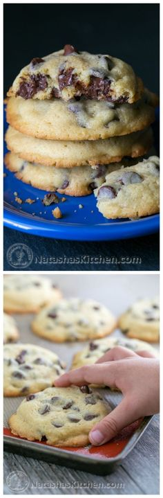 Soft Chocolate Chip Cookies - These chocolate chip cookies stay soft for days. Chocolatey good and not overly sweet. Cookie Desserts, Just Desserts, Cookie Recipes, Delicious Desserts, Dessert Recipes, Yummy Food, Yummy Cookies, Yummy Treats, Sweet Treats