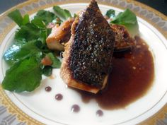 Brown Sugar Soy Glazed Salmon with Watercress www.AnyDaySoiree.com