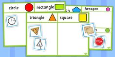 This brilliant shape sorting activity / activities allows your children to sort different everyday objects into their different shape categories! 2d Shapes Activities, Measurement Activities, Sorting Activities, Educational Activities, Year 1 Maths, Early Years Maths, 2d Shape Games, Fun Math Worksheets, Shape Sort