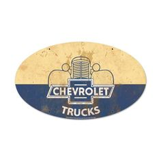 Chevrolet Trucks Oval Metal Sign 14 x 24 Inches, $58.97 (http://www.jackandfriends.com/chevrolet-trucks-oval-metal-sign-14-x-24-inches/)