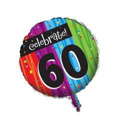 Metallic Balloon 60th Milestone Celebrations/Case of 12