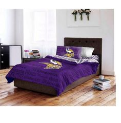Minnesota Vikings NFL Twin Comforter  Sheet Set 4 Piece Bedding * Want to know more, click on the image.