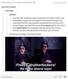 One argument that the DMLE is the wizarding answer to the Keystone Cops.