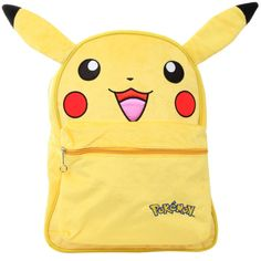 Pokemon Pikachu Furry Backpack | Hot Topic (75 BRL) ❤ liked on Polyvore featuring bags, backpacks, pokemon, accessories, hot topic backpack, rucksack bags, knapsack bag, hot topic and day pack backpack