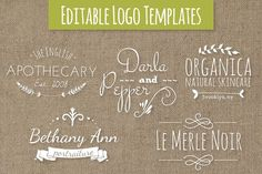Cute Premade Logo Templates Set 7 Templates Need a cute, whimsical logo for your fledgling small business? Well, look no further! These adorable by The Pen & Brush