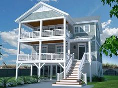 Casual Beach House Plan - 15072NC   Beach, Southern, Vacation, Narrow Lot, 1st Floor Master Suite, Butler Walk-in Pantry, CAD Available, Carport, PDF   Architectural Designs