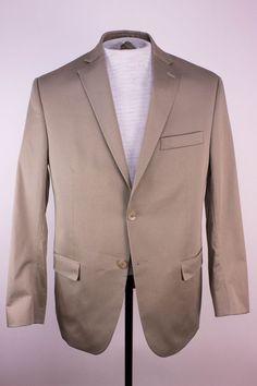 Michael Kors Mens 40 S Solid Brown Cotton Blazer Jacket Sports Coat  #MichaelKors #TwoButton