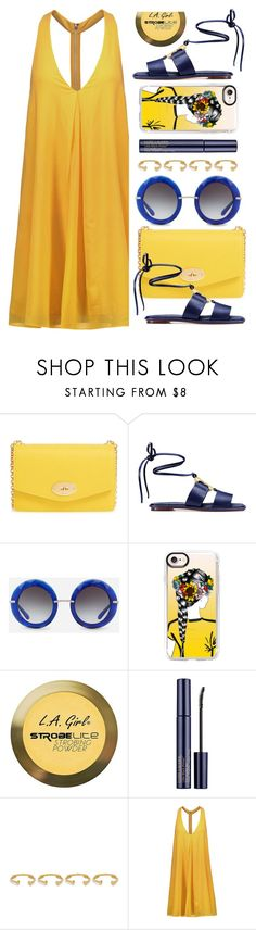 """""""Miami"""" by monmondefou ❤ liked on Polyvore featuring Mulberry, Tory Burch, Dolce&Gabbana, Casetify, Charlotte Russe, Estée Lauder, Joanna Laura Constantine, Alice + Olivia, yellow and Blue"""