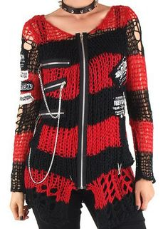 Punk Stripe [Red] | Jumper