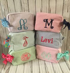Seersucker Preppy Personalized Monogram by thepurplepetunia
