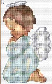 Resultado de imagem para ponto cruz anjos