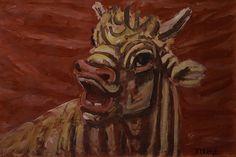 Lee Jung-seob(Korean, 이중섭, 1916 - The Bull, 1953 담배갑 그림 Korean Painting, Painting & Drawing, Korean Art, Asian Art, Minimalist Art, Design Reference, Art Drawings, Contemporary Art, Moose Art