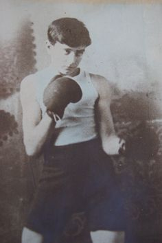 Jimmy Bullock as a young boy, a photograph taken for his mother.