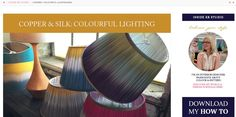 Lampshades, Color Patterns, Light Colors, Copper, Lighting, Modern, Design, Lamp Shades, Trendy Tree