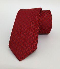 Red Mens Tie 6 cm (2,36 #handmadeatamazon #nazodesign