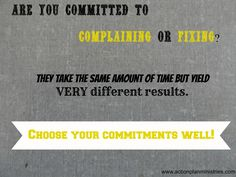 Choose your commitments well!