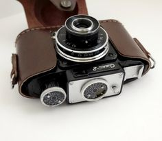 Vintage Photo Camera Smena 2 Retro Old Leather by AlexVintageArea