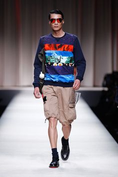 Moschino Spring 2014 Menswear Collection Slideshow on Style.com
