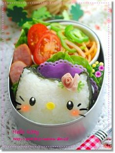 Hello kitty onigiri bento