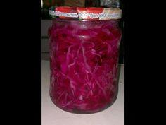 (914) Заготовки на зиму Рецепт №4: Маринованная краснокочанная капуста - YouTube Mason Jars, Youtube, Canning Jars, Youtubers, Glass Jars, Jars