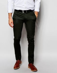 Image 1 of ASOS Super Skinny Smart Pants In Cotton Sateen
