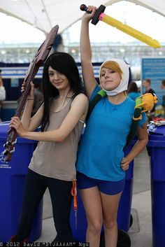 Marceline and Finn by DTJAAAAM, SDCC 2012, via Flickr