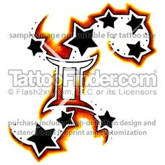 atlantian gemini tattoo design by rembrandt tats pinterest roses gemini tattoos and design. Black Bedroom Furniture Sets. Home Design Ideas
