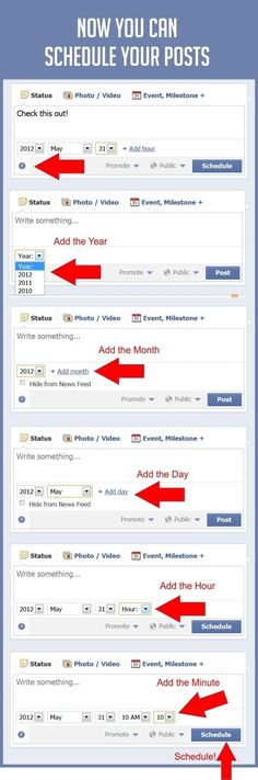 So useful, How To Schedule Your Facebook Posts Right On Facebook