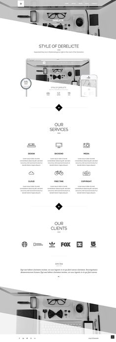 Derelicte – Agency & Porfolio WordPress Theme by Themes Awards, via Behance