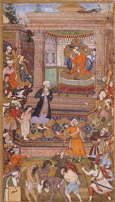 a court scene from sadi's golestan 1595