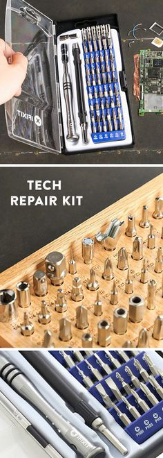 iFixit empowers you to repair (even though tech companies don't want you to). These tools, plus iFixit's online manuals, are all you need.
