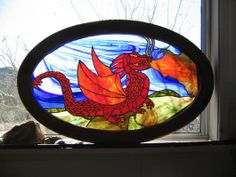 Red Dragon - Delphi Stained Glass
