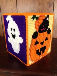 Handmade Plastic Canvas Tissue Box HALLOWEEN  (Toppers / Covers)