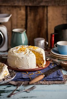 Orange cake with orange buttercream from my new cookbook 'Sweet' - Sam Linsell #recipe