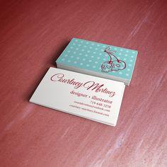 My business cards mockup- by Courtney Martinez