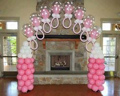 Torres de Globos decoracin para Baby Shower Pinterest Babies