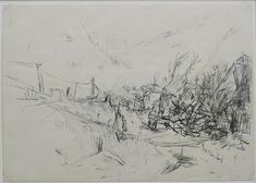 An early drawing by Hanns Schimansky