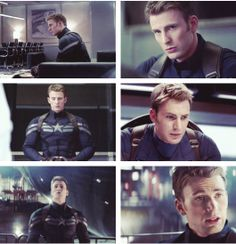 """Steve Rogers (Chris Evans) in """"Captain America: The Winter Soldier"""" (new trailer released Oct. Little well he looks a little bit different.still handsome but somethings changed :/ Best Avenger, Captain Rogers, Captain America And Bucky, Movies And Series, Steve Rogers, Bucky Barnes, Winter Soldier, Marvel Movies, Marvel Cinematic Universe"""