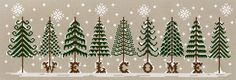 These would be cute as individual projects. Could also embellish the trees to make them Christmas trees.