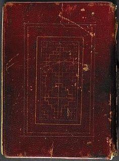 The back cover The St Cuthbert Gospel, also known as the Stonyhurst Gospel or the St Cuthbert Gospel of St John,